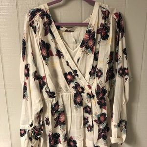 Free people floral flowy top